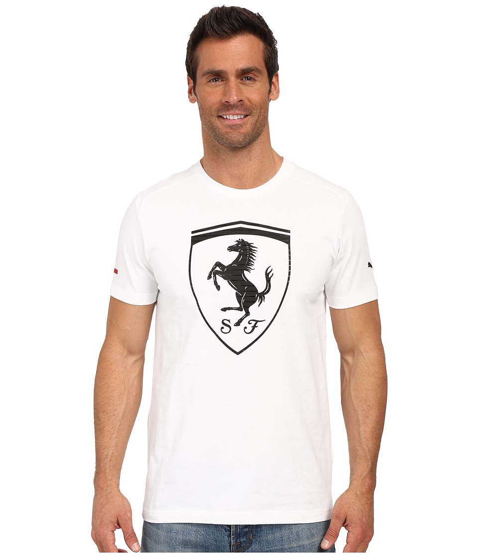 PUMA - Ferrari Big Shield Tee (White) Men's T Shirt
