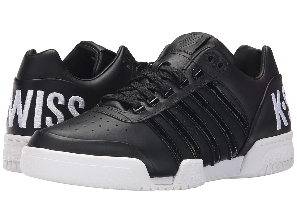 K-Swiss - Gstaad Big Logo (Black/White Leather) Men's Shoes