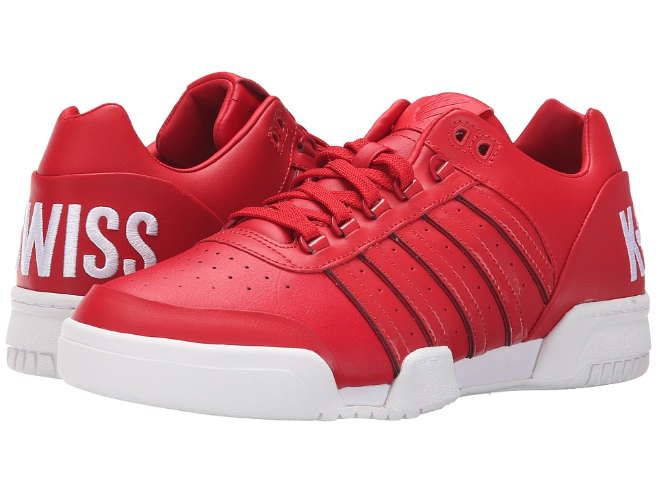 K-Swiss - Gstaad Big Logo (Ribbon Red/White Leather) Men's Shoes