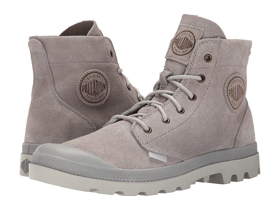 Palladium Pampa Hi Suede UL (Vapor/Silver Birch) Men