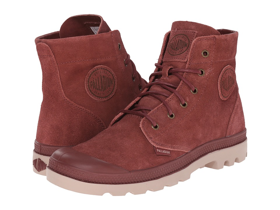 Palladium Pampa Hi Suede UL (Madder Brown/Stucco) Men