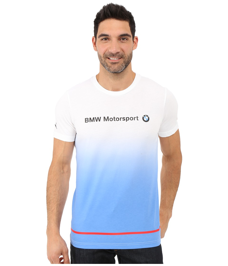 PUMA - BMW MSP Logo Tee (White) Men's Short Sleeve Pullover