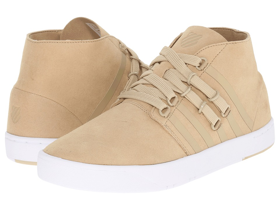 K-Swiss - D R Cinch Chukka (Khaki/White Suede) Men's Shoes