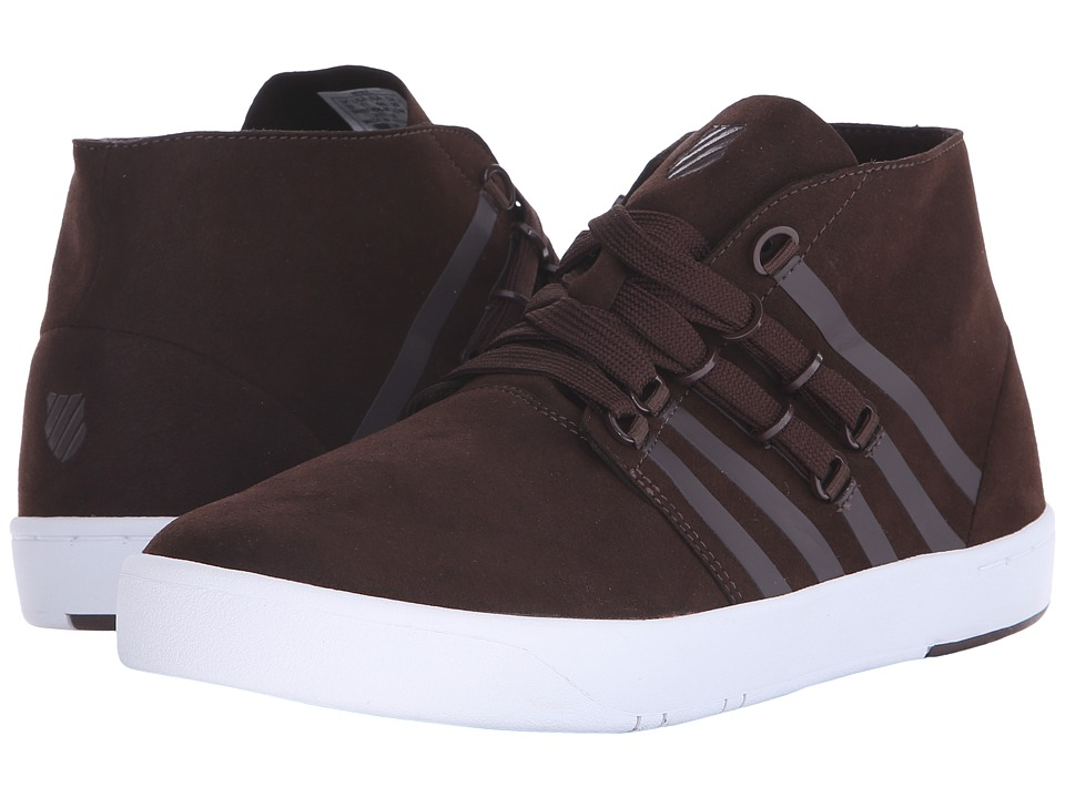 K-Swiss - D R Cinch Chukka (Chocolate/White Suede) Men's Shoes