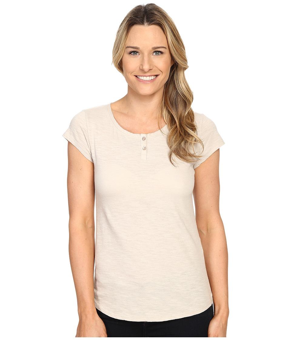 Woolrich - Elemental Henley Tee (Silver Gray) Women's T Shirt