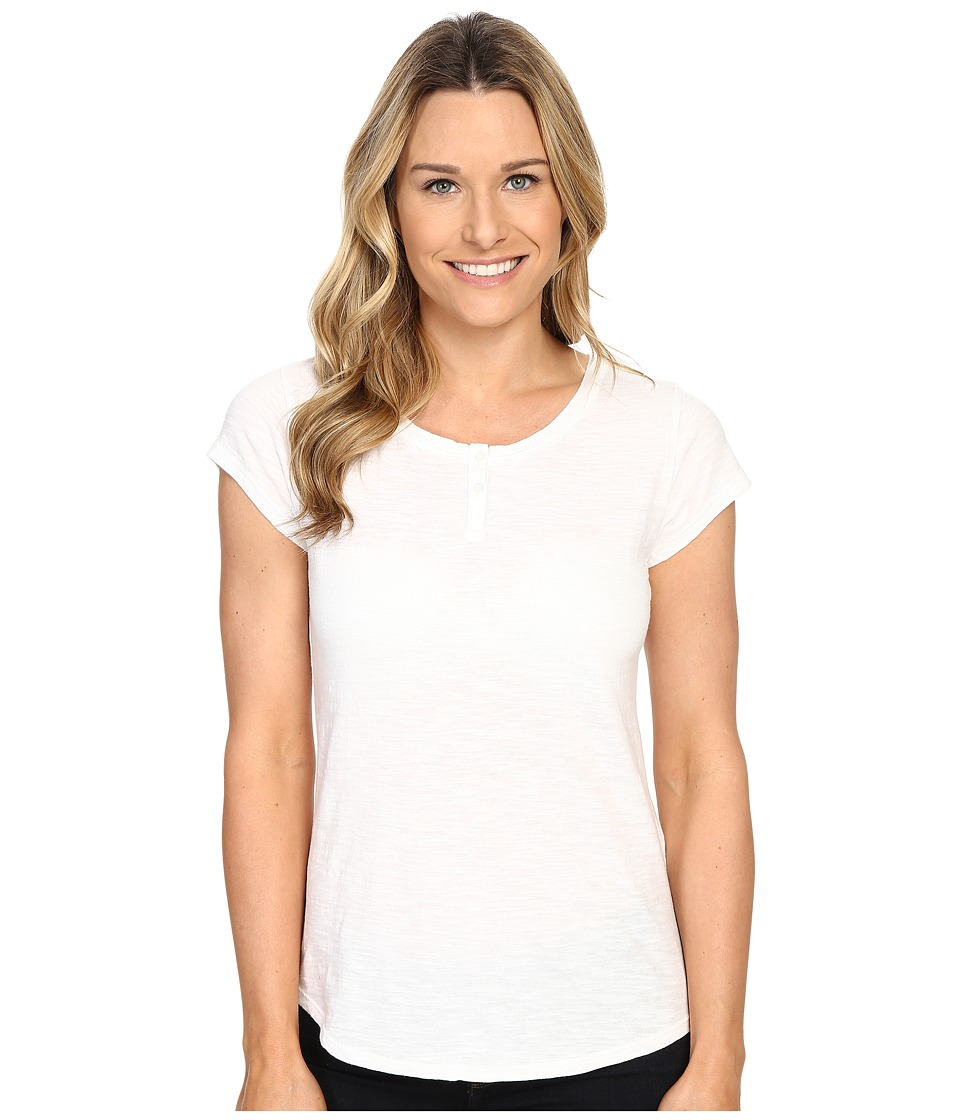 Woolrich - Elemental Henley Tee (White) Women's T Shirt