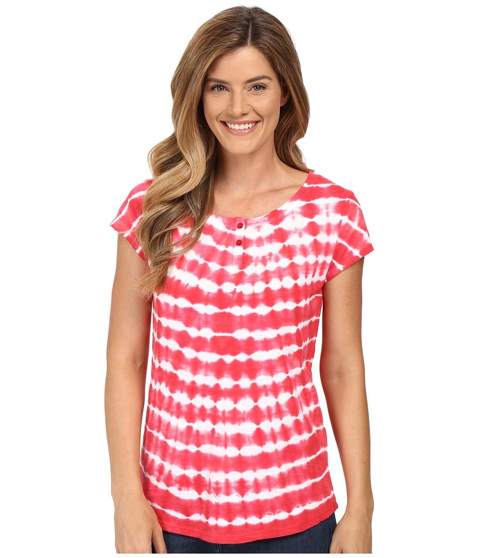 Woolrich - Elemental Tie-Dye Henley (Old Red) Women's Clothing