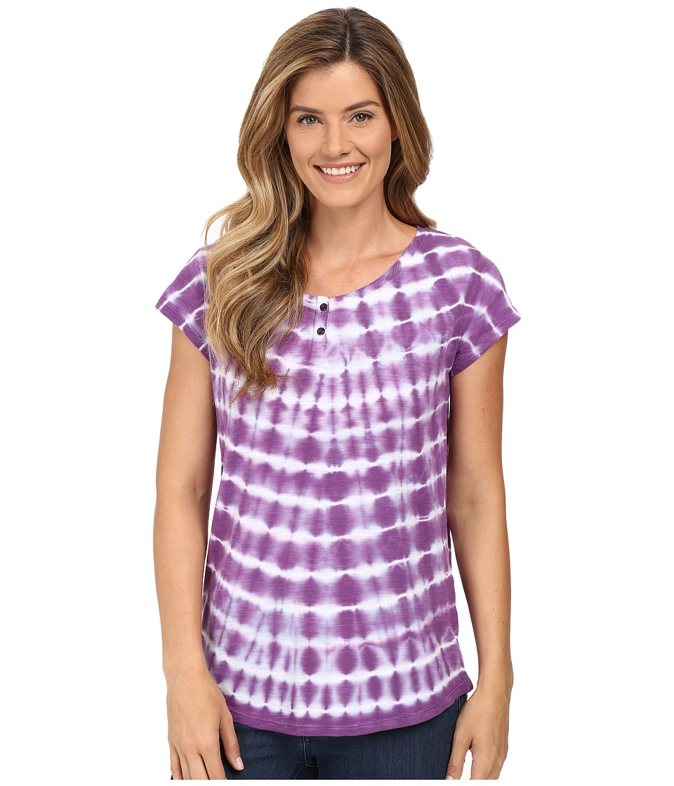 Woolrich - Elemental Tie-Dye Henley (Plum Purple) Women's Clothing