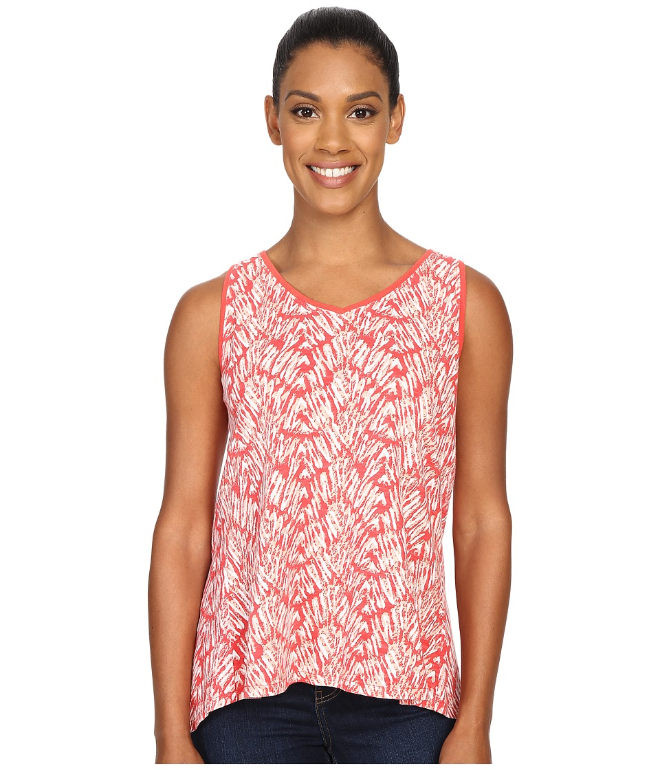Woolrich - Elemental Printed Tank (Hot Guava) Women's Sleeveless