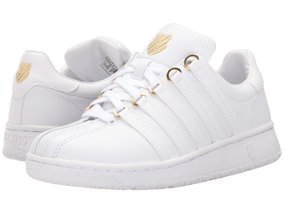 K-Swiss - Classic VN 50th (50th/White/Gold Leather) Women's Shoes