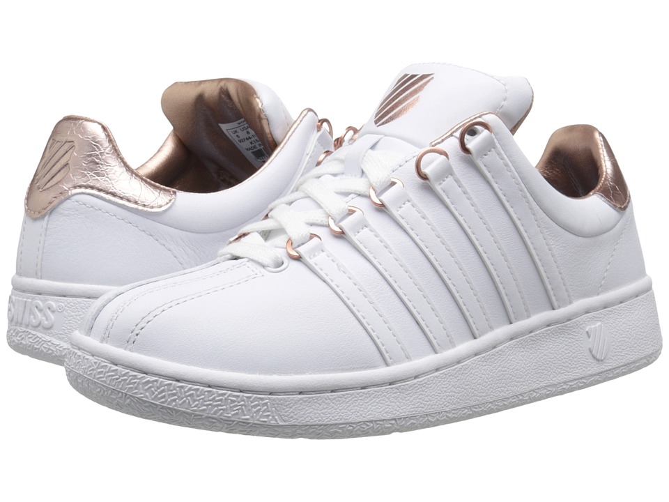 K-Swiss - Classic VN Aged Foil (White/Rose Gold Leather) Women's Shoes