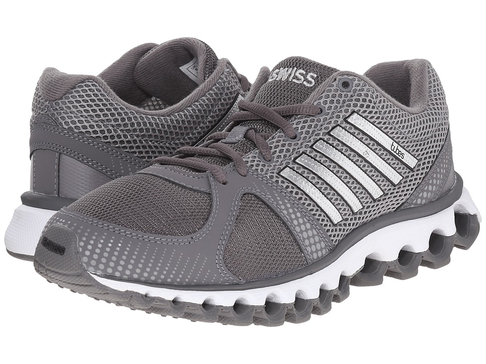 K-Swiss - X-160 Tubes (Charcoal/Neutral Grey Mesh) Men's Tennis Shoes