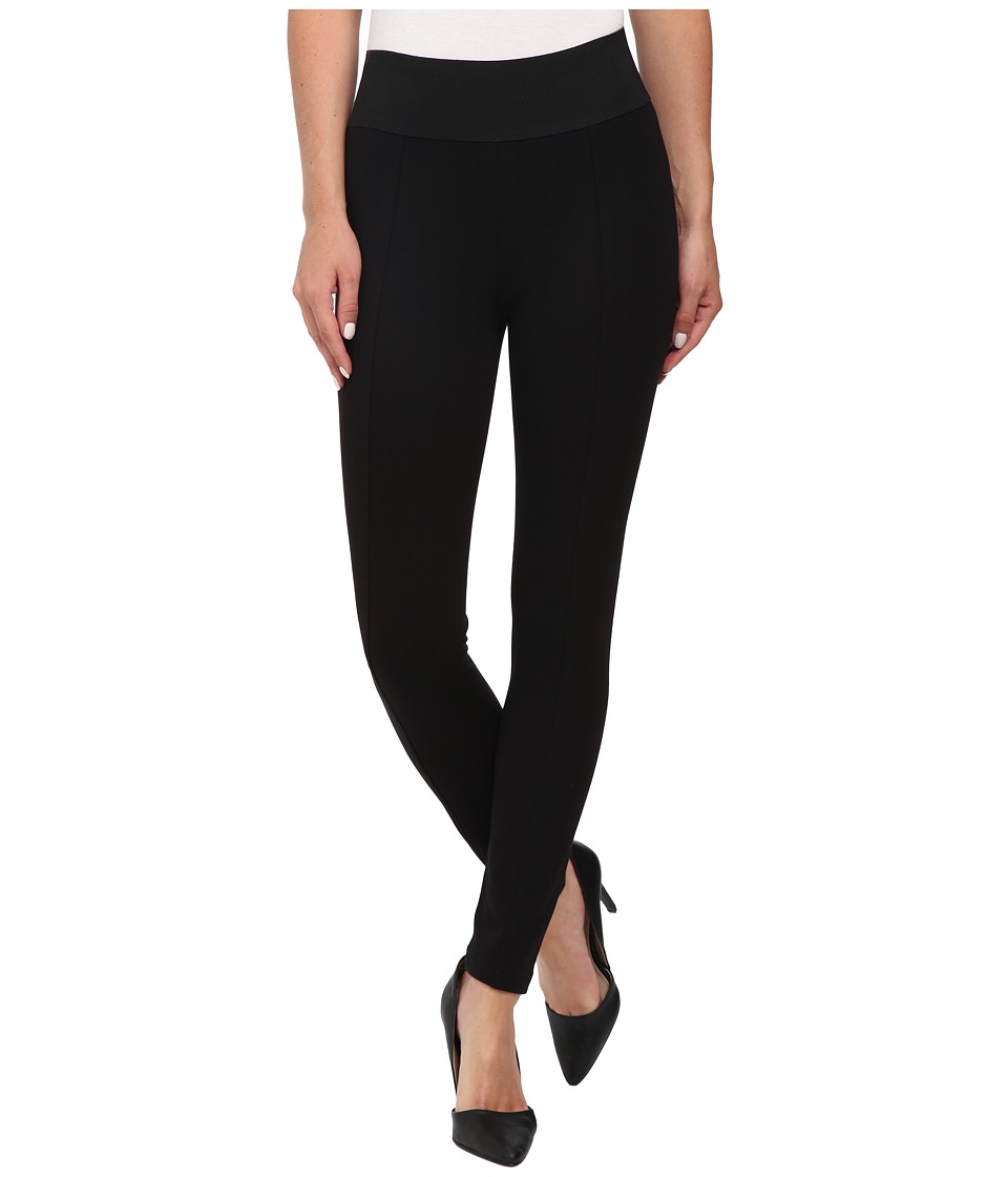 DKNYC - Structured Ponte QR Wide WB Legging (Black) Women