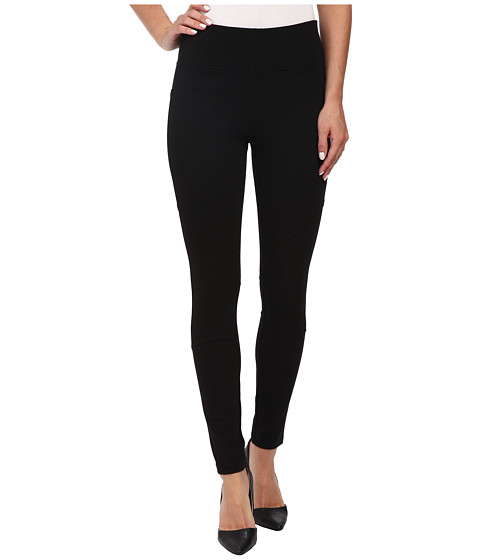 DKNYC - Structured Ponte QR Seamed Legging (Black) Women