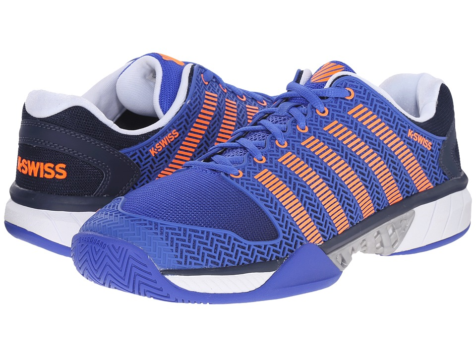 K-Swiss - Hypercourt Express (Electric Blue/Dress Blues/Safety Orange Mesh) Men's Tennis Shoes