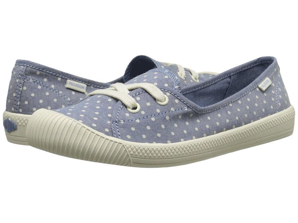 Palladium Flex Ballet PD (Blue/Antique White/Polka Dots) Women