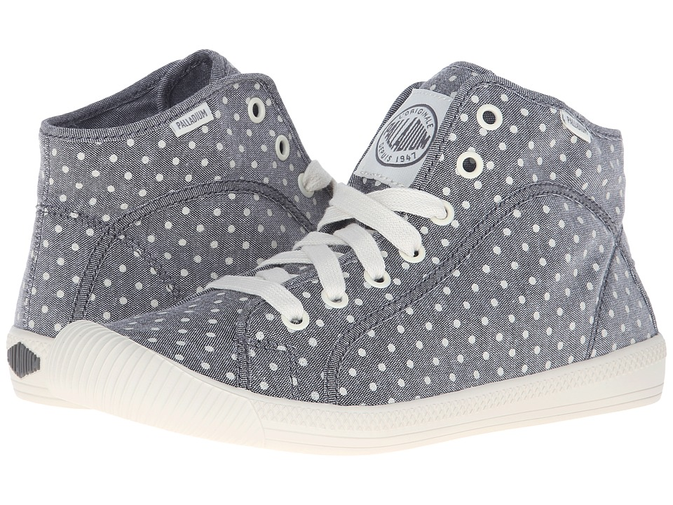 Palladium Flex Lace Mid PD (Gray/Antique White/Polka Dots) Women