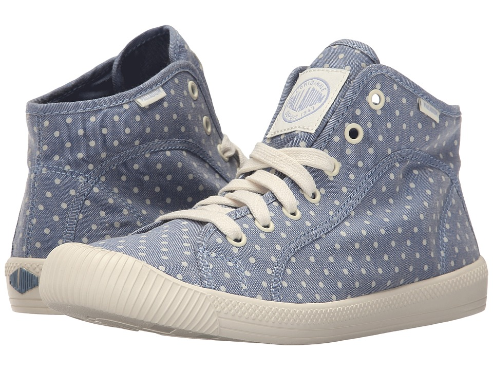Palladium Flex Lace Mid PD (Blue/Antique White/Polka Dots) Women
