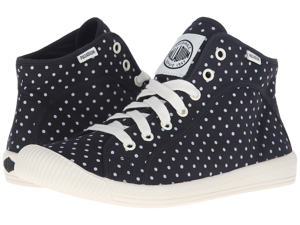 Palladium Flex Lace Mid PD (Black/Antique White/Polka Dots) Women
