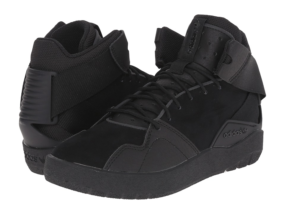 adidas Originals Kids - Crestwood Mid J (Big Kid) (Black/Black/Black) Boys Shoes