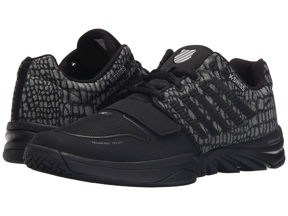 K-Swiss - X Court (Black/Jungle Mesh) Men's Tennis Shoes