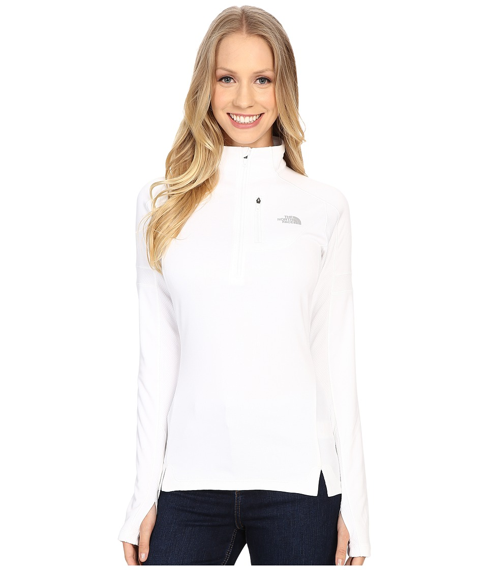 The North Face - Impulse Active 1/4 Zip Pullover (TNF White) Women's Long Sleeve Pullover
