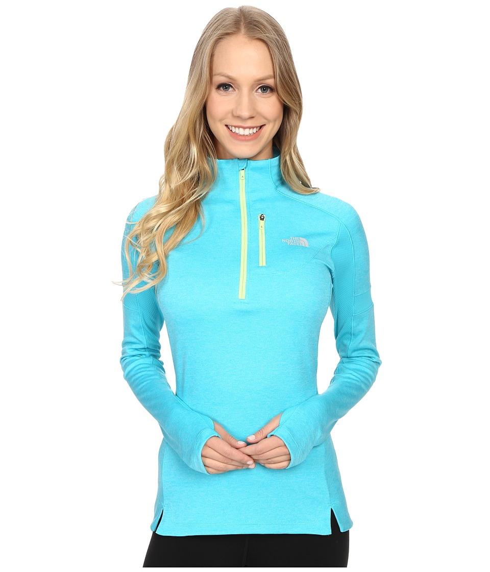 The North Face - Impulse Active 1/4 Zip Pullover (Bluebird Heather) Women's Long Sleeve Pullover