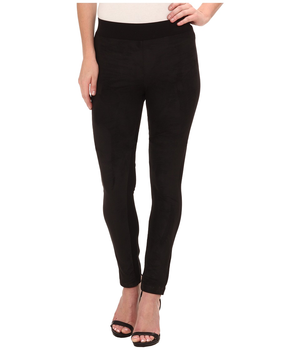 DKNYC - Ponte Faux Suede Front Legging (Black) Women's Clothing