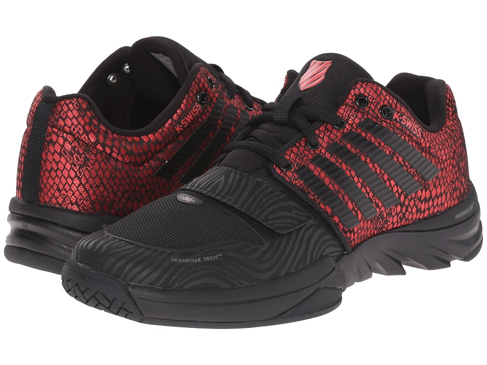 K-Swiss - X Court (Black/Metallic Red Mesh) Women's Cross Training Shoes