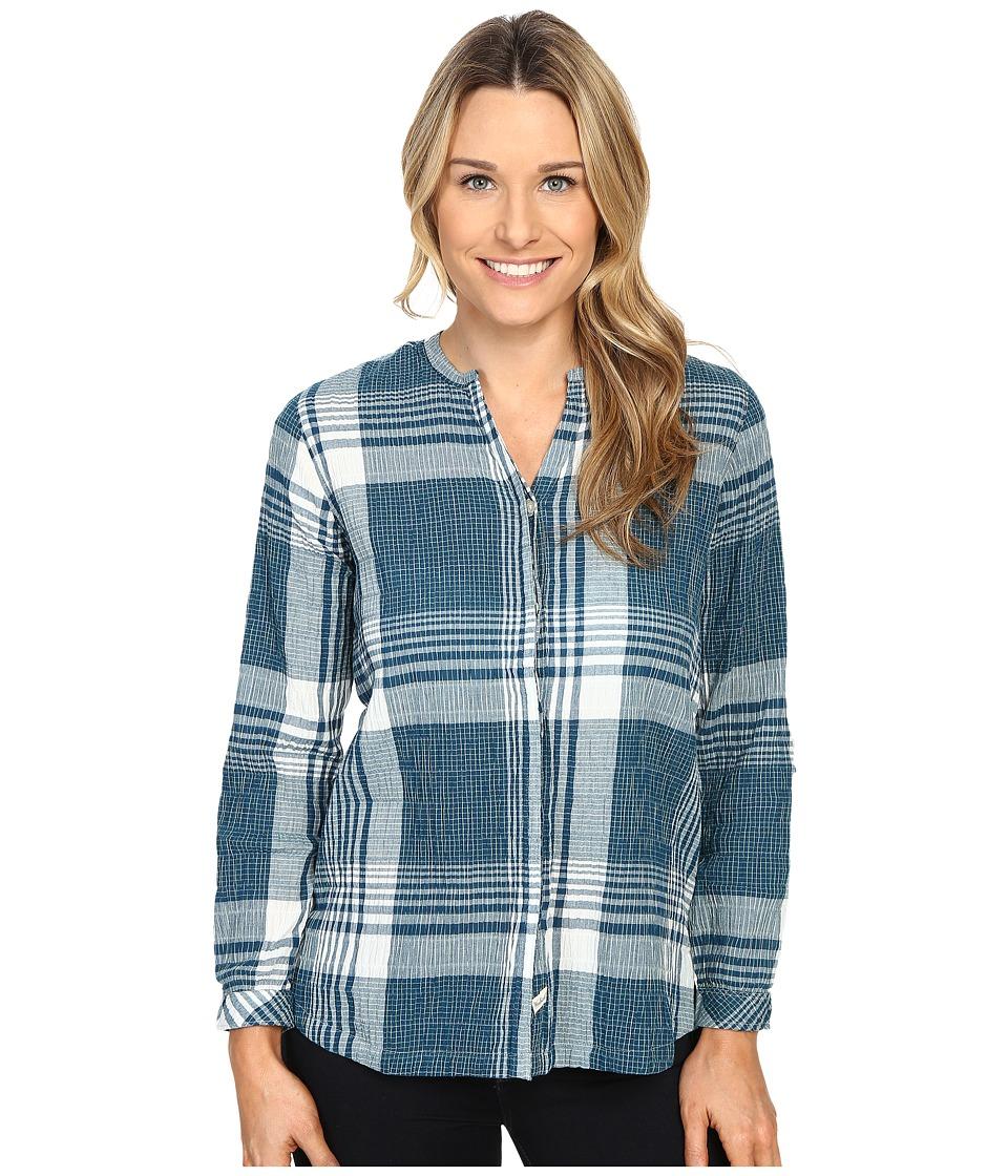 Woolrich - Spring Fever Convertible Shirt (Atlantic) Women's Long Sleeve Button Up