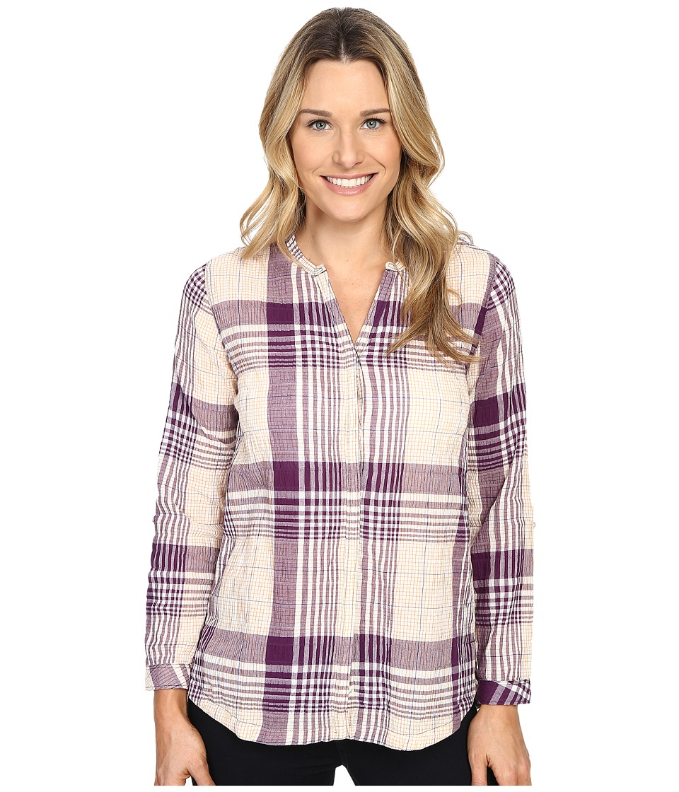 Woolrich - Spring Fever Convertible Shirt (Plum Purple) Women's Long Sleeve Button Up