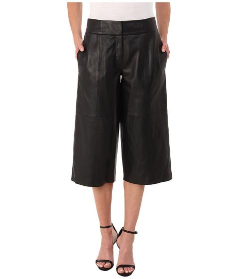 DKNYC - Leather Culotte Pant (Black) Women