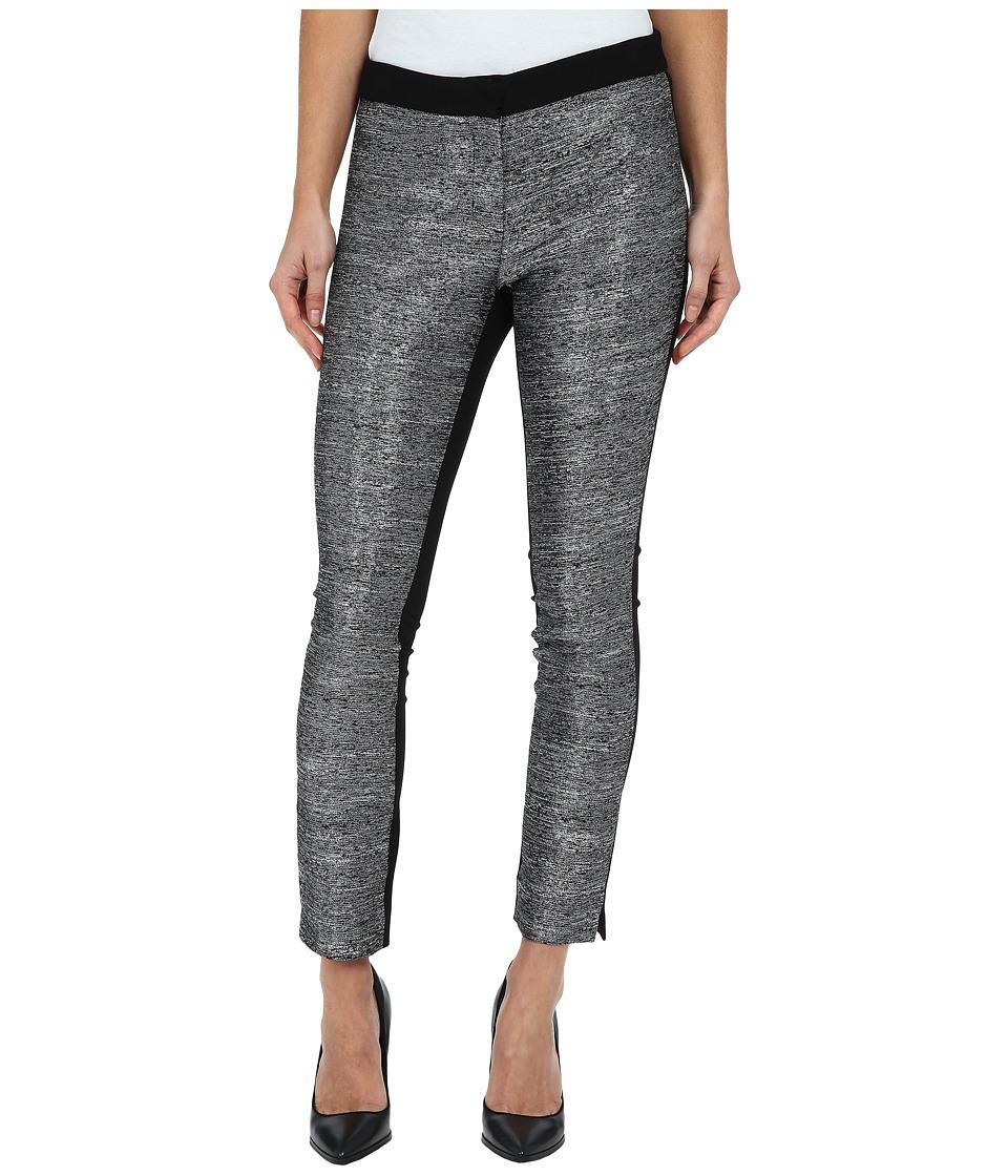 DKNYC - Metallic Slub Ponte Back Pant (Black) Women's Dress Pants plus size,  plus size fashion plus size appare