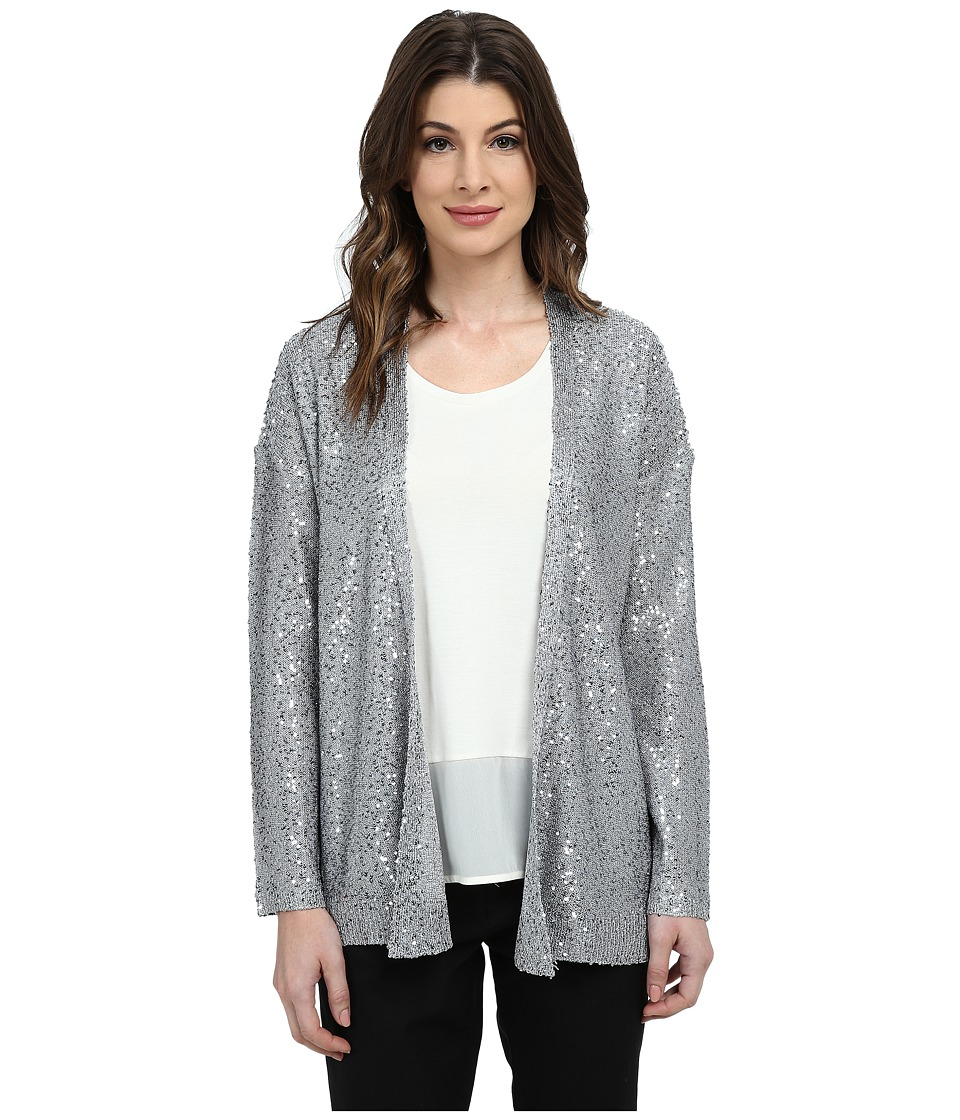 DKNYC - Sequins Open Front Cardigan (Shimmer) Women's Sweater