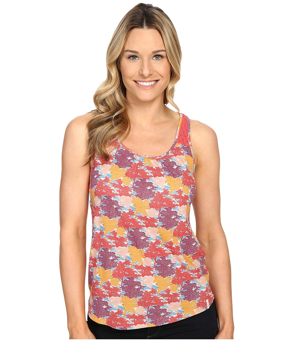 Woolrich - Meadowlark Crochet Printed Tank (Hot Guava) Women's Sleeveless