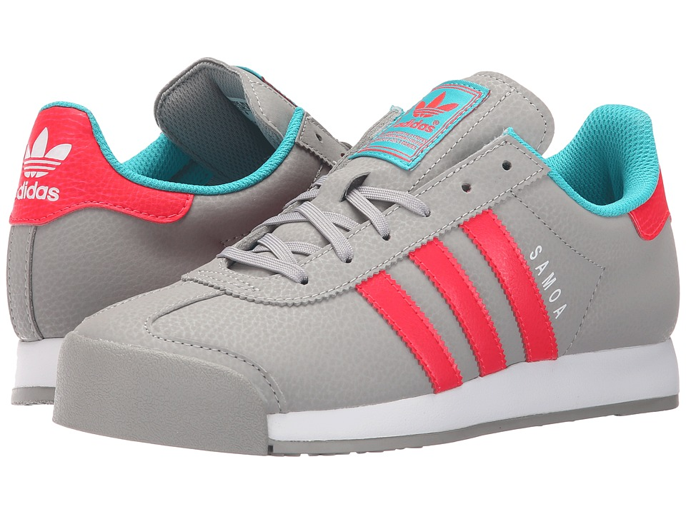 adidas Originals Kids - Samoa J (Big Kid) (MGH Solid Grey/Pink) Girls Shoes
