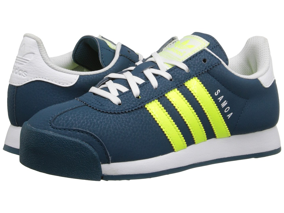 adidas Originals Kids - Samoa J (Big Kid) (Mineral/Solar Yellow/White) Boys Shoes