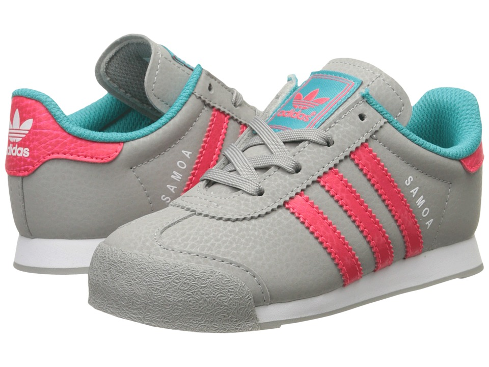 adidas Originals Kids - Samoa I (Toddler) (MGH Solid Grey/Shock Pink/Shock Green) Girls Shoes