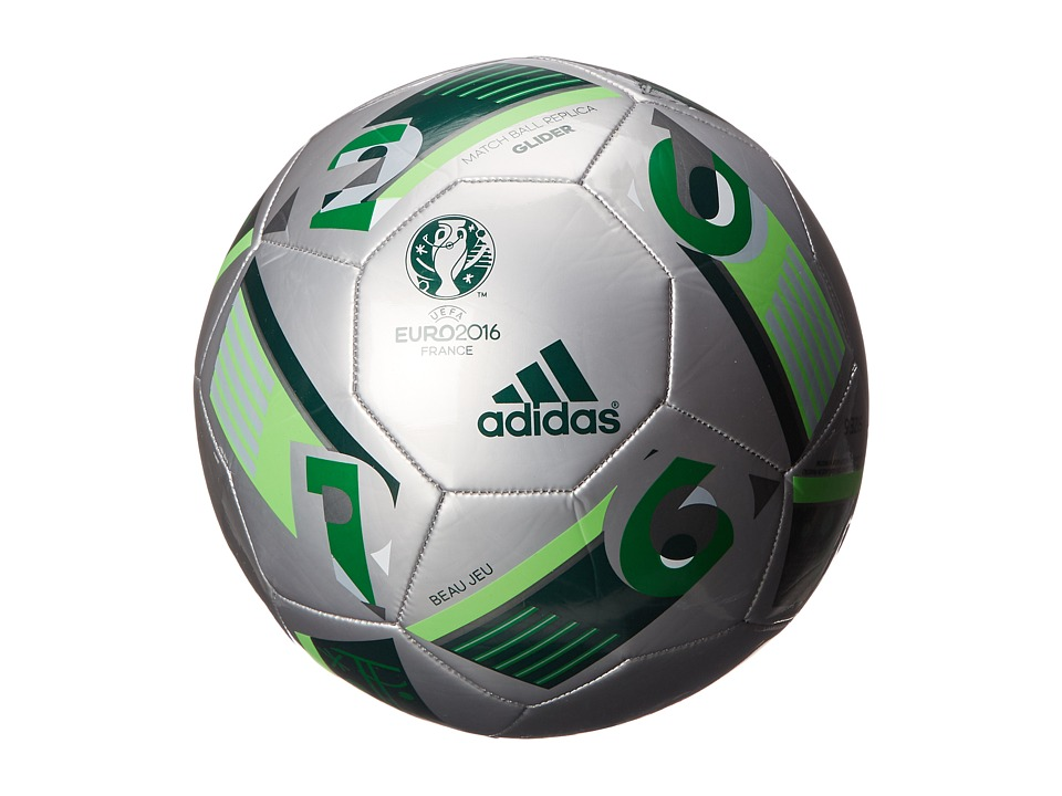 adidas - Euro 16 Glider (Silver Metallic/Green/Solar Green) Athletic Sports Equipment