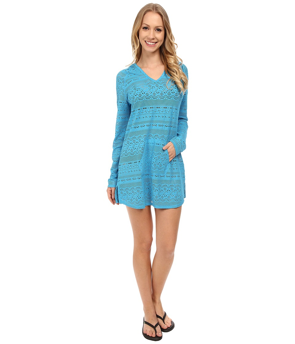 Prana - Luiza Tunic Cover Up (Vivid Blue) Women's Swimwear