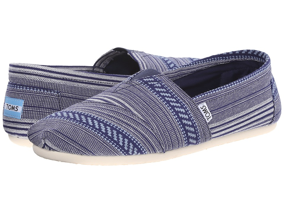 TOMS - Woven Classics (Blue Tribal Woven) Men's Slip on Shoes