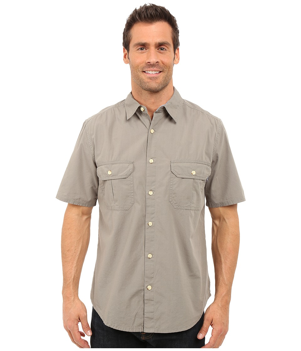 Woolrich - Midway Solid Shirt (Field Gray) Men's Short Sleeve Button Up