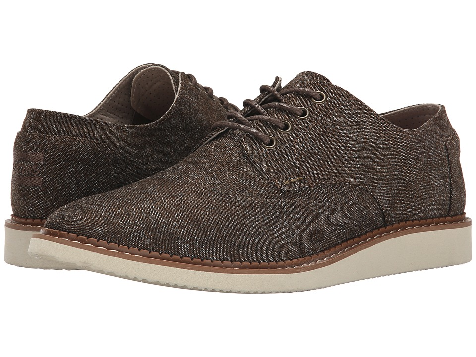 TOMS - Brogue (Dark Brown Herringbone) Men's Lace up casual Shoes