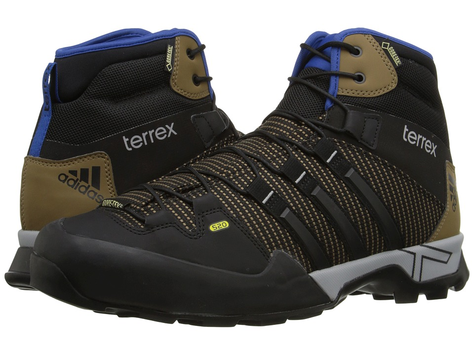 adidas Outdoor - Terrex Scope High GTX (Earth/Black/EQT Blue) Men's Shoes