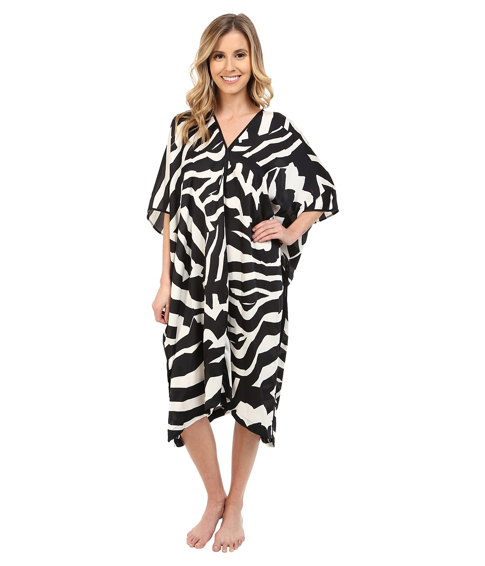 Natori - Zebra Caftan (Black) Women's Pajama