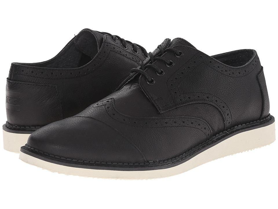 TOMS Brogue (Black Full Grain Leather) Men