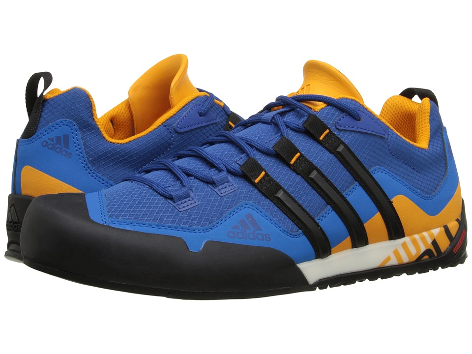 adidas Outdoor - Terrex Swift Solo (EQT Blue/Black/EQT Green) Men's Shoes