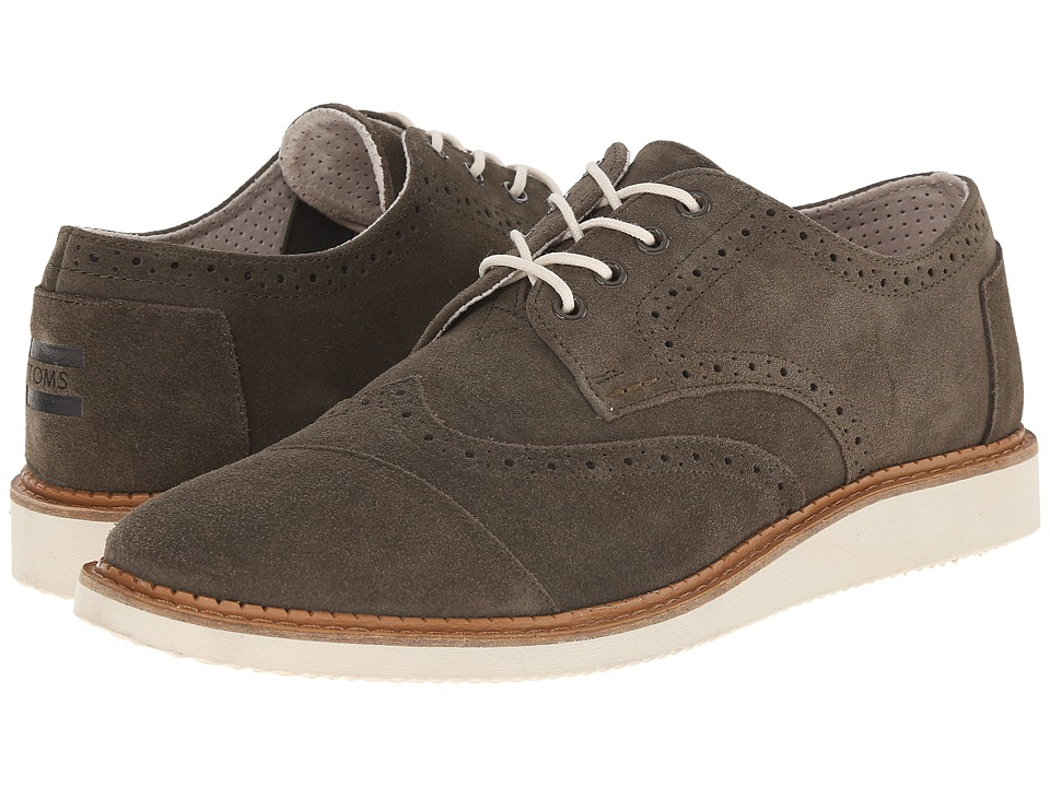 TOMS - Brogue (Tarmac Olive Suede) Men's Lace up casual Shoes