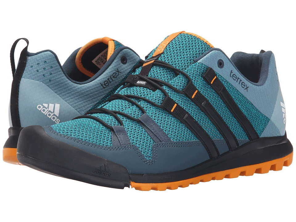 adidas Outdoor - Terrex Solo (EQT Green/Black/EQT Orange) Men's Climbing Shoes