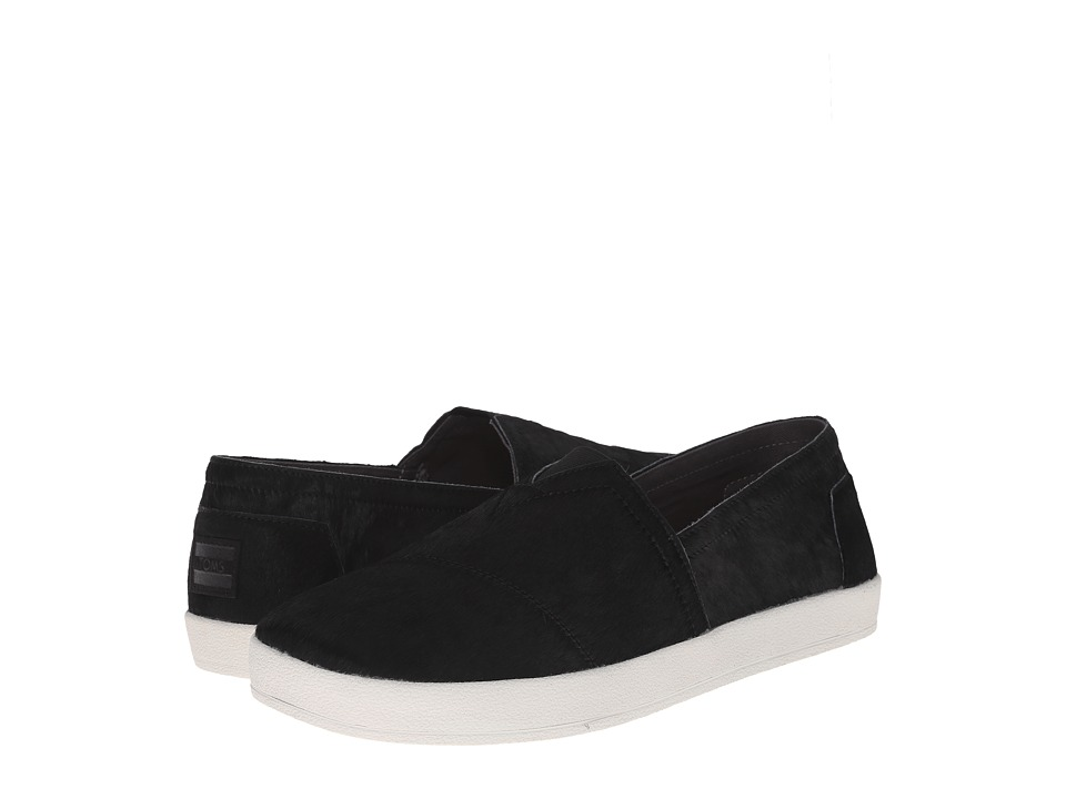 TOMS - Avalon Sneaker (Black Calf Hair) Men's Slip on Shoes